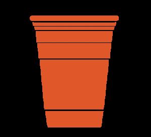 Orange Solo Cup Icon
